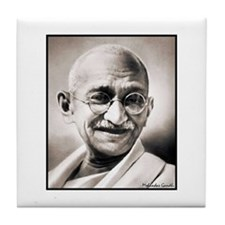 "Faces ""Gandhi"" Tile Coaster"