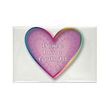 Cute Peace love twilight Rectangle Magnet