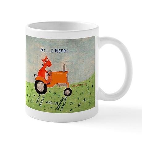 Orange Tractor Mug