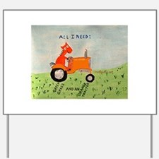 Funny Allis chalmers Yard Sign