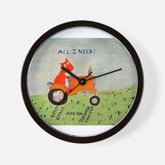 Funny Allis chalmers Wall Clock