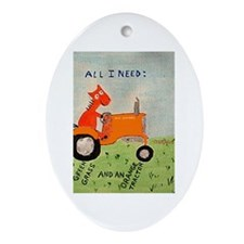 Allis chalmers Oval Ornament
