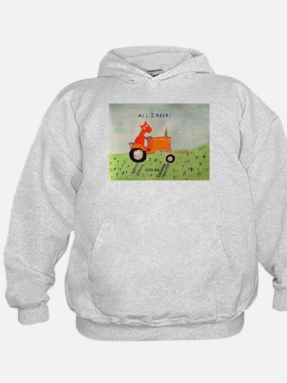 Cute Orange tractor Hoodie