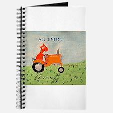 Cute Orange tractor Journal