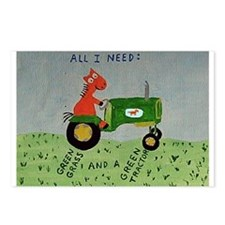 Green Tractor Postcards (Package of 8)