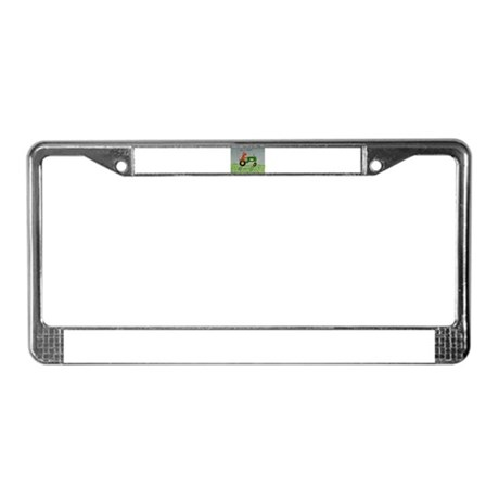 Green Tractor License Plate Frame