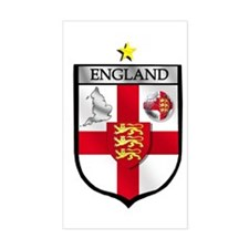 England Soccer Shield Rectangle Decal