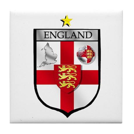 England Soccer Shield Tile Coaster