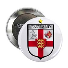 "England Soccer Shield 2.25"" Button"