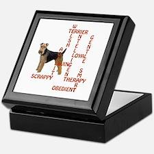welsh terrier crossword Keepsake Box