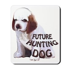 clumber spaniel hunting puppy Mousepad