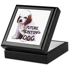 clumber spaniel hunting puppy Keepsake Box