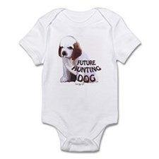 clumber spaniel hunting puppy Infant Bodysuit