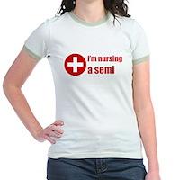 I'm Nursing A Semi Jr. Ringer T-Shirt