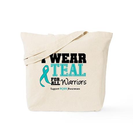 I Wear Teal Warriors Tote Bag