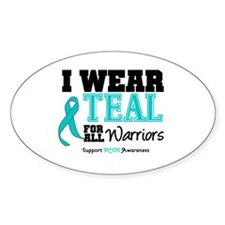 I Wear Teal Warriors Oval Decal