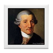 "Faces ""Haydn"" Tile Coaster"