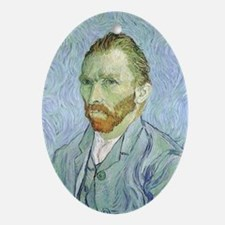 Van Gogh Self Portrait Ornament (Oval)