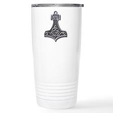 Thor's Hammer-silver Travel Mug