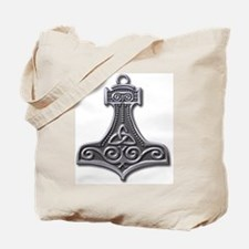 Thor's Hammer-silver Tote Bag