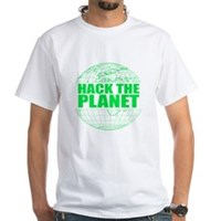 Hack The Planet White T-Shirt