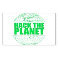 Hack The Planet Rectangle Decal