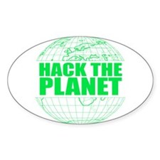 Hack The Planet Oval Decal