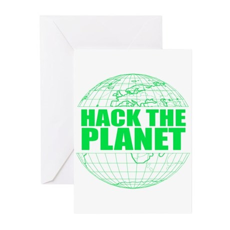 Hack The Planet Greeting Cards (Pk of 10)