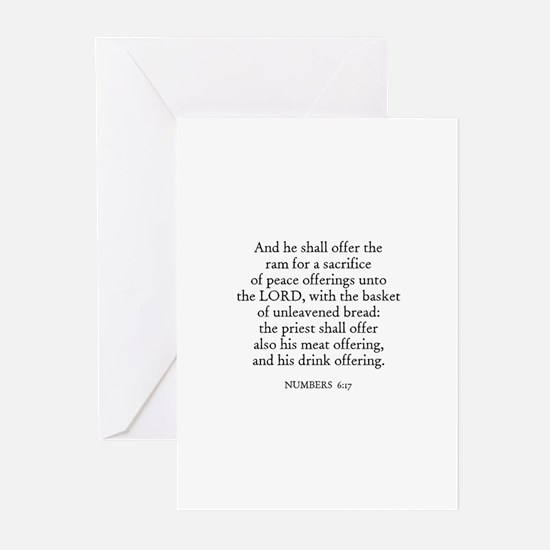 NUMBERS  6:17 Greeting Cards (Pk of 10)