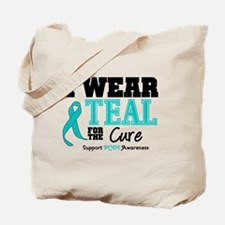 IWearTeal For The Cure Tote Bag