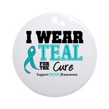 IWearTeal For The Cure Ornament (Round)