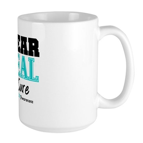IWearTeal For The Cure Large Mug