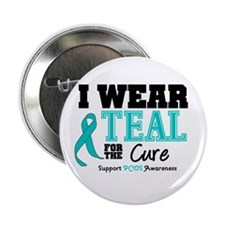 "IWearTeal For The Cure 2.25"" Button"