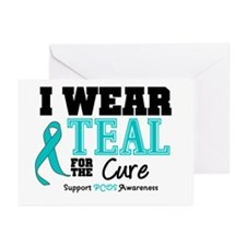 IWearTeal For The Cure Greeting Cards (Pk of 10)