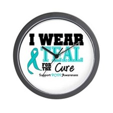 IWearTeal For The Cure Wall Clock