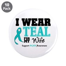 "IWearTeal Wife 3.5"" Button (10 pack)"