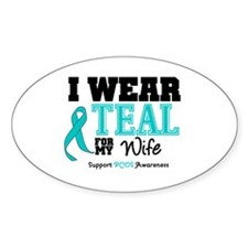 IWearTeal Wife Oval Decal