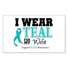 IWearTeal Wife Rectangle Decal