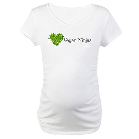 Vegan Ninja Maternity T-Shirt