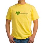 Vegan Ninja Yellow T-Shirt