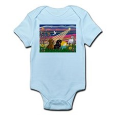 Magical Night/Two Dachshunds Infant Bodysuit
