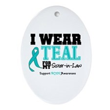 IWearTeal Sister-in-Law Oval Ornament