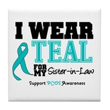 IWearTeal Sister-in-Law Tile Coaster
