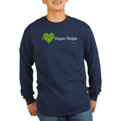 Vegan Ninja Long Sleeve Dark T-Shirt