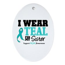 IWearTeal Sister Oval Ornament