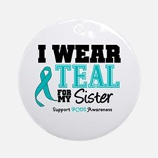 IWearTeal Sister Ornament (Round)