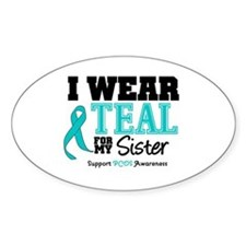 IWearTeal Sister Oval Decal