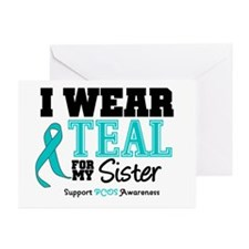 IWearTeal Sister Greeting Cards (Pk of 10)