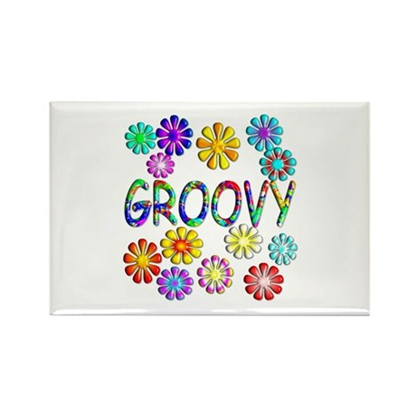 Groovy Rectangle Magnet (100 pack)
