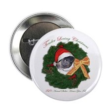Stinky the rat terrier in wreath Button